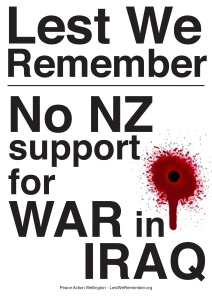 Lest we remember poster