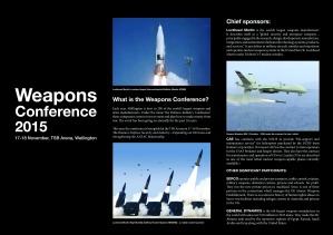What is the weapons conference display panels