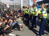 Police face off with activists